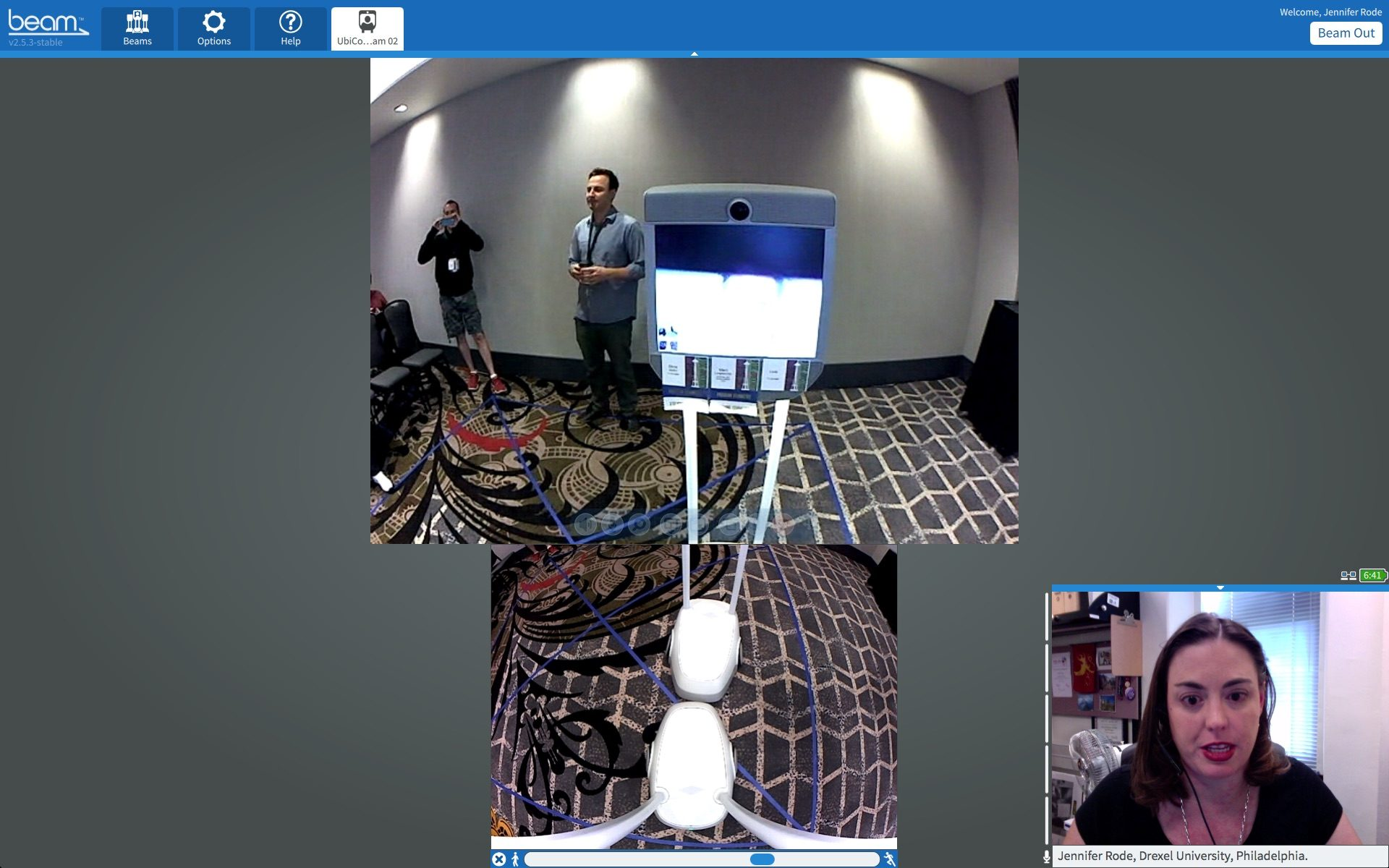 Beam at the Ubicomp Conference